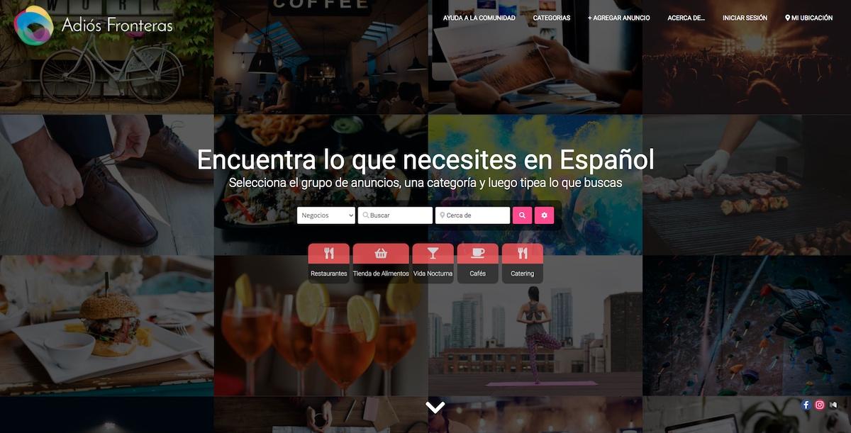Adiós Fronteras Web Design
