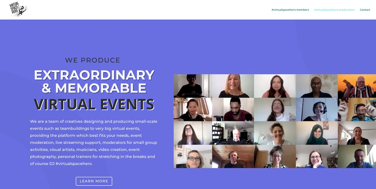 #virtualspacehero productions website